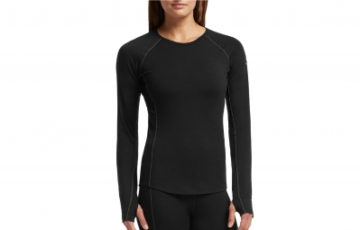 ICEBREAKER Maillot Manches Longues Femme ZONE LS CREWE Black Mineral
