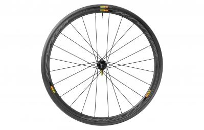 Mavic roue avant ksyrium pro carbone sl disc pneu yksion pro 25 mm 6 trous