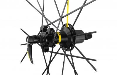 mavic 2017 roue arriere ksyrium pro noir pneu yksion pro 25mm shimano sram