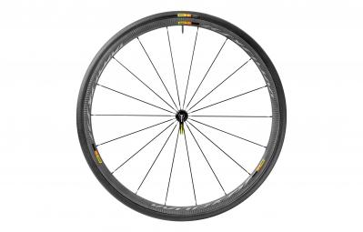 Mavic roue avant ksyrium pro carbone sl noir pneu yksion pro 25mm