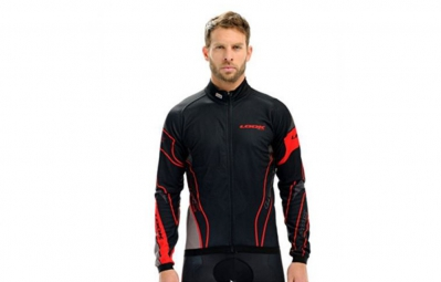 look maillot manches longues pro team noir rouge xs
