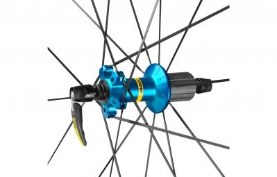 mavic 2016 roue arriere ksyrium elite bleu pneu yksion pro 25mm shimano sram