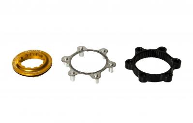 ashima adaptateur center lock gold pour montage 6 trous