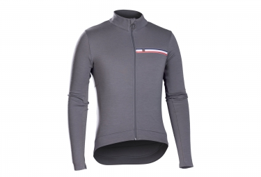 bontrager maillot manches longues classique thermal jersey gris xl