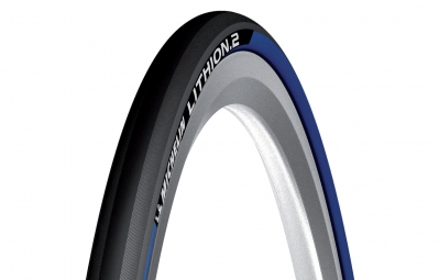 Pneu michelin lithion 2 700x23c tringle souple bleu 23 mm