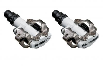 SHIMANO Paire de Pédales SPD-M520 Blanc