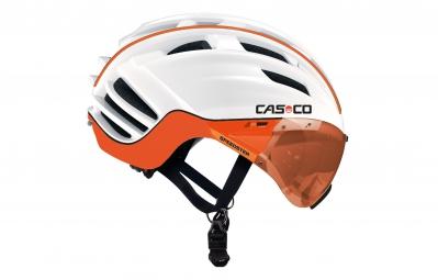 CASCO Casque SPEEDSTER TC PLUS avec visière Blanc Orange