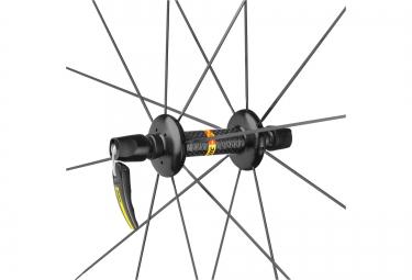mavic roue avant cosmic carbone 40 boyau yksion pro 23 mm