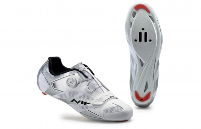 chaussures route northwave sonic 2 plus blanc argent 47