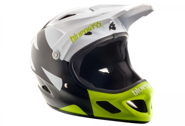 casque integral bluegrass explicit noir blanc s 54 56 cm