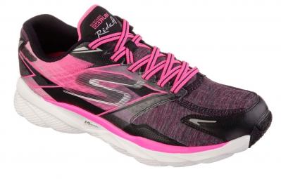 Chaussures de Running Femme Skechers GO RIDE 4 Noir / Rose
