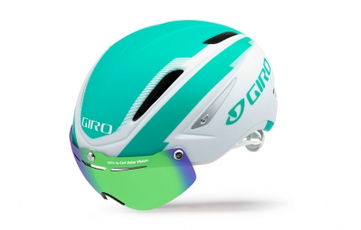 Casque GIRO AIR ATTACK SHIELD Blanc Turquoise