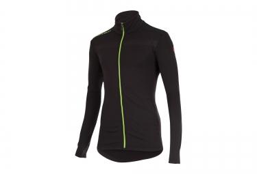castelli maillot manches longues meccanico sweater noir vert xl
