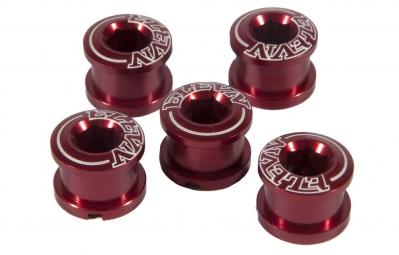 ELEVN Pack de 5 Vis pour Couronne Alu Rouge