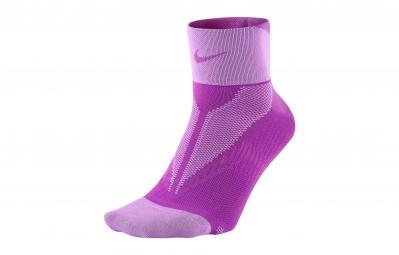 Nike chaussettes elite lightweight quarter violet 44 45