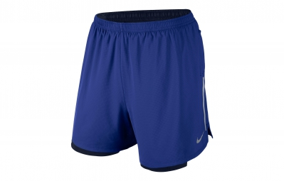 NIKE Short 2-en-1 PHENOM 2-in-1 12,5cm Bleu Homme
