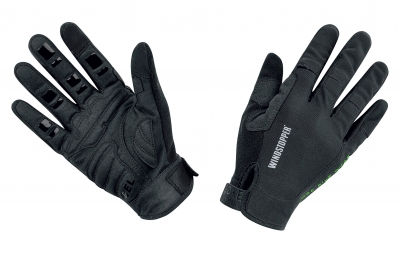 Gore bike wear gants power trail windstopper light noir l