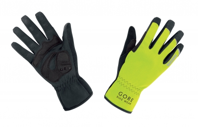 gore bike wear gants universal windstopper jaune fluo noir 3xl
