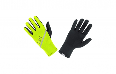 GORE RUNNING WEAR Gants ESSENTIAL Light Jaune/Fluo