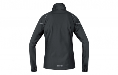 gore running wear veste essential gore tex active lady noir l