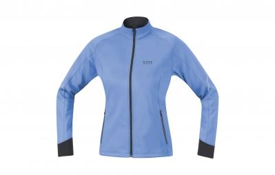 gore running wear veste essential windstopper soft shell lady bleu s