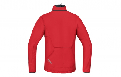 GORE BIKE WEAR Veste Power Trail Windstopper Soft Shell Thermo Rouge