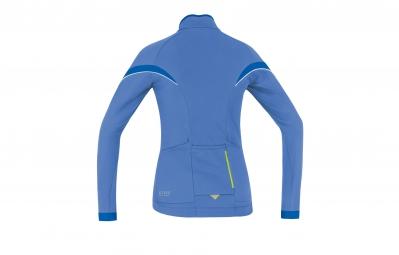 gore bike wear maillot power 2 0 lady thermo bleu xs