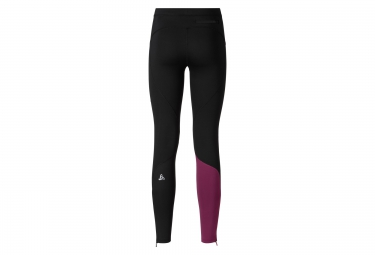 odlo collant long gliss femme running noir violet m