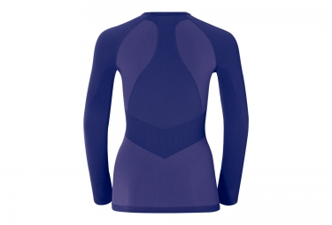 ODLO T-Shirt Manches Longues Femme EVOLUTION WARM Bleu