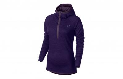 Nike pull dri fit wool violet femme xs