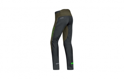 GORE BIKE WEAR Pantalon POWER TRAIL WINDSTOPPER Soft Shell 2 en 1 Kaki/Noir