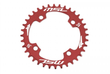 Image of Msc plateau cnc alu 7075 narrow wide 4 branches 104mm rouge 34