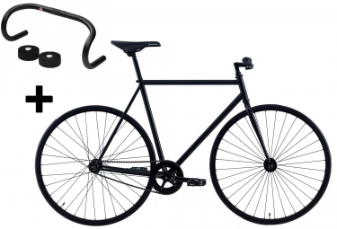 FOCALE 44 Vélo Complet Fixie FULLMOON + Guidon LOYAL Noir