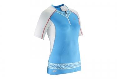 Salomont shirt femme s lab exo zip bleu m
