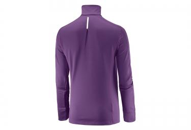 SalomonT Shirt Femme AGILE 1/2 ZIP Violet
