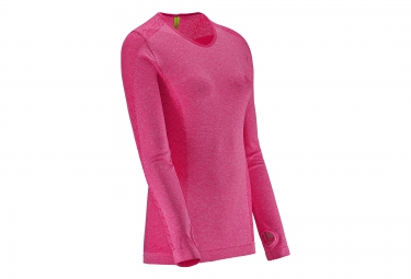 salomon tee shirt femme elevate seamless rose l