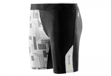 skins short de compression a200 femme noir logo xs