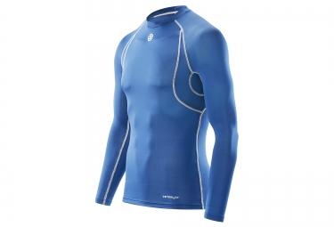 maillot thermique skins carbonyte homme bleu l