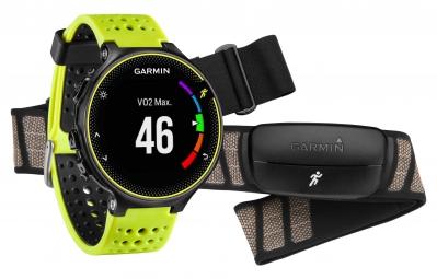 GARMIN Montre GPS Forerunner 230 Pack HRM Noir/Jaune