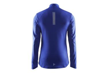 craft maillot manches longues facile demi zip bleu s