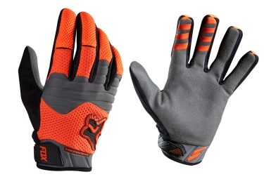 fox paire de gants longs sidewinder polar orange m