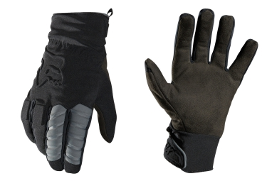 fox paire de gants longs forge cold weather noir s