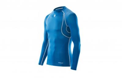 maillot thermique skins carbonyte homme bleu xl
