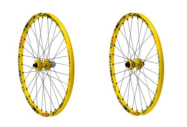 MAVIC Paire de Roues DEEMAX ULTIMATE | 27.5'' | Av 20 mm  | Ar 12x150 mm | Jaune