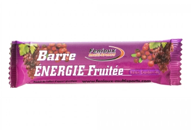 FENIOUX MULTI-SPORTS Barre à L'Unité ENERGIE FRUITEE Goût Raisin-Cranberries