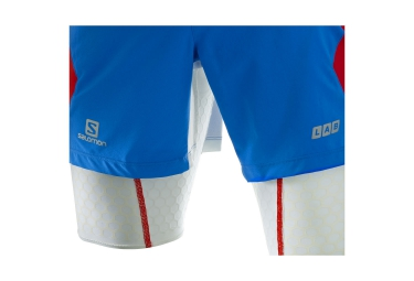 SALOMON Short S-LAB EXO TWINSKIN Bleu