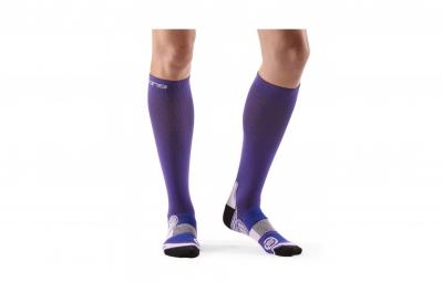 skins chaussettes de compression actives essentials femme violet l