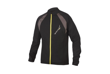 Endura maillot manches longues mt500 full zip noir jaune xl