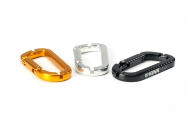 KINK Cle a Rayons/ Mousqueton CARABINER Gold