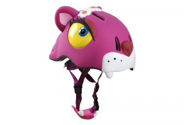 CRAZY SAFETY 2016 Casque Enfant CHAT ROSE (49-55) 3 à 6 ans